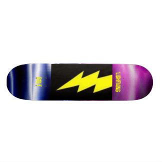 mixed lightning lightining bolt lightning bolt skateboard deck
