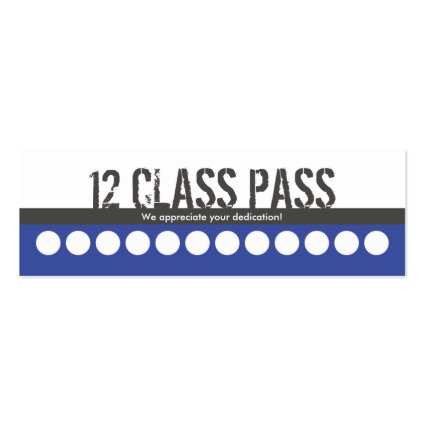 Mixed Martial Art Business Card 12 Class Pass Card