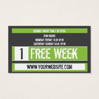 Mixed Martial Art Business Card Free Week Card