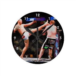 Mixed Martial Arts - A Kick To The Head Round Clock