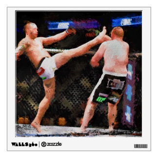 Mixed Martial Arts - A Kick To The Head Wall Decal