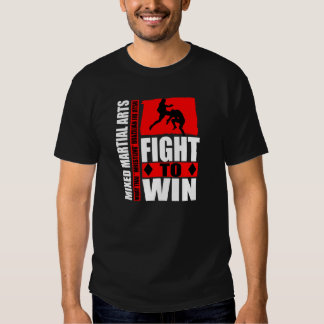 "Mixed Martial Arts - Fight To Win ""Flying Knee"" T Shirts"