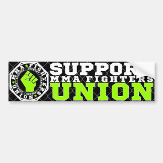 Mixed Martial Arts [MMA] Fighters Union, White v3 Bumper Sticker