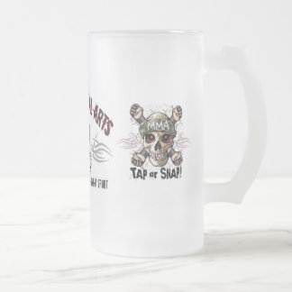 Mixed Martial Arts MMA Frosted Glass Beer Mug