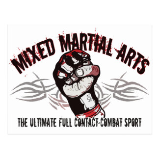 Mixed Martial Arts MMA Postcard