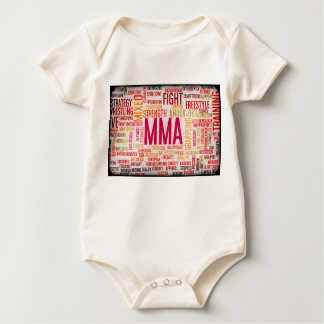 Mixed Martial Arts or MMA as a Grunge Concept Baby Bodysuit
