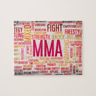 Mixed Martial Arts or MMA as a Grunge Concept Jigsaw Puzzle