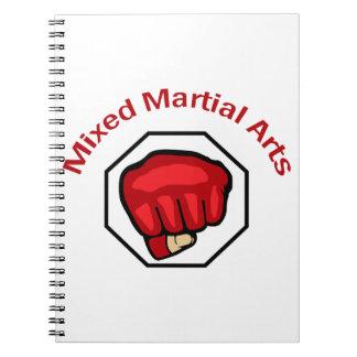 MIXED MARTIAL ARTS SPIRAL NOTEBOOK