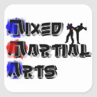 Mixed Martial Arts Square Sticker