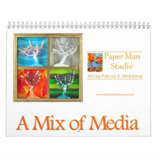Mixed Media Art Calendar