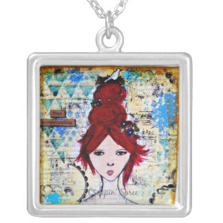 Mixed media art. Find Understanding Silver Plated Necklace