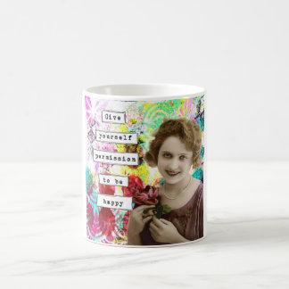 Mixed Media Art Journal Photo Collage Mug