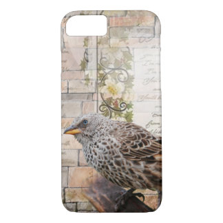 Mixed Media Art Style Bird Iphone Case