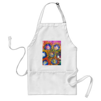Mixed Media Collage Sunflower Painting Adult Apron