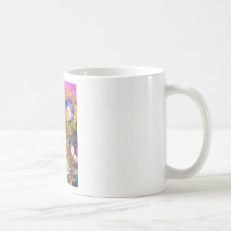 Mixed Media Collage Sunflower Painting Classic White Coffee Mug