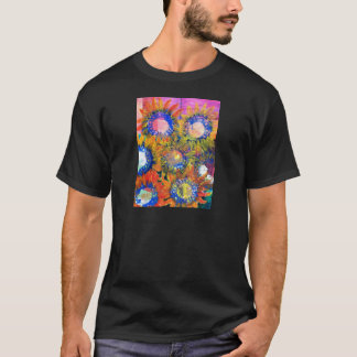 Mixed Media Collage Sunflower Painting T-Shirt