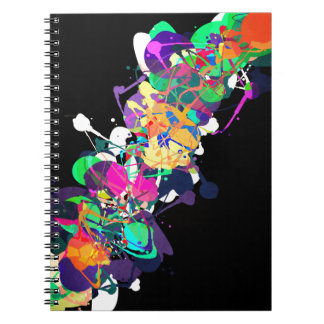 Mixed Media Colors 1 Spiral Notebook