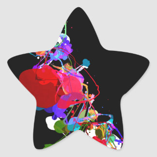 Mixed Media Colors 2 Star Sticker