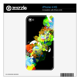 Mixed Media Colors 3 iPhone 4S Skins