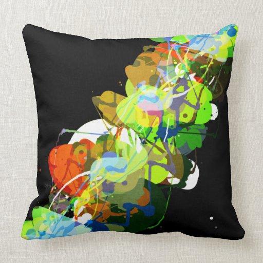 Mixed Media Colors 3 Throw Pillows Zazzle
