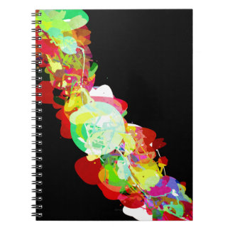 Mixed Media Colors 5 Spiral Notebook