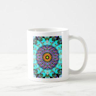 Mixed Media Concentric Symmetry Coffee Mug