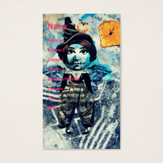 Mixed Media Doll in Shades of Blue Business Card