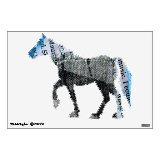 Mixed Media Equine Wall Sticker