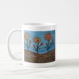Mixed Media Flower Field Classic White Coffee Mug