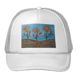 Mixed Media Flower Field Trucker Hat