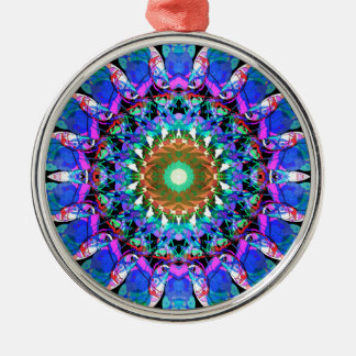 Mixed Media Mandala 3 Metal Ornament