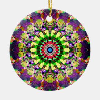 Mixed Media Mandala 5 Ceramic Ornament