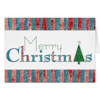 Mixed Media Merry Christmas Card