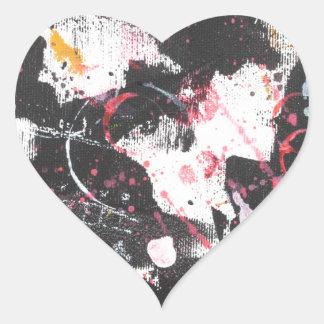 """""""mixed media"""",""""ready to hang"""", """"wall art"""",abstract heart sticker"""