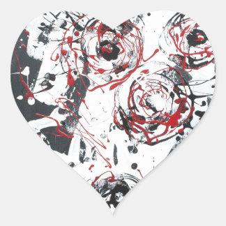"""""""mixed media""""""""ready to hang""""""""wall art""""abstract heart sticker"""