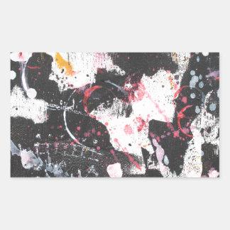 """mixed media"",""ready to hang"", ""wall art"",abstract rectangular sticker"