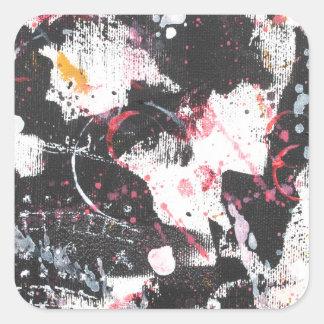 """mixed media"",""ready to hang"", ""wall art"",abstract square sticker"