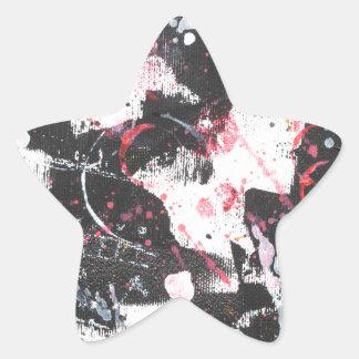 """mixed media"",""ready to hang"", ""wall art"",abstract star sticker"