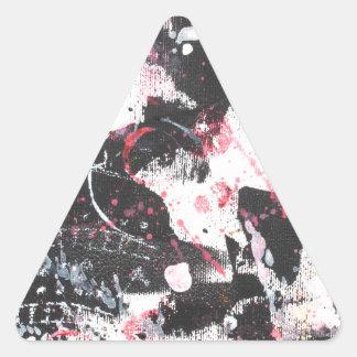 """mixed media"",""ready to hang"", ""wall art"",abstract triangle sticker"