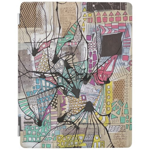 Mixed Media Recycled Art iPad Smart Cover