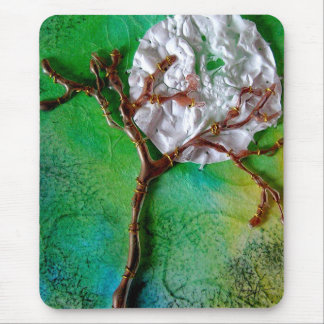 Mixed Media Tree and Moon Mouse Pad