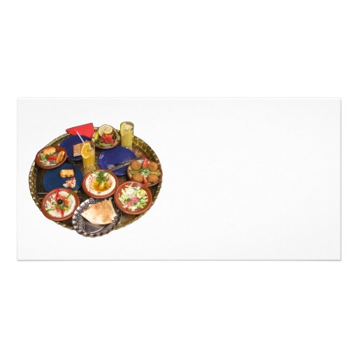 Mixed Mediterranean food Custom Photo Card