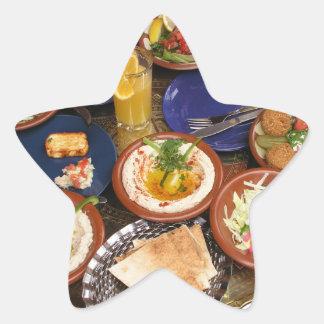 Mixed Mediterranean food Star Sticker