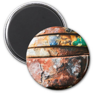 mixed metal race to cake 2 inch round magnet