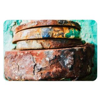 mixed metal race to cake rectangular photo magnet