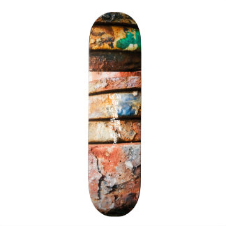 mixed metal race to cake skateboard deck