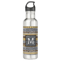 Mixed Metals Monogram Hydration Is Important Water Bottle
