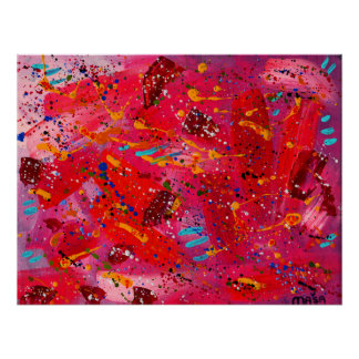 Mixed Meteor 7 Abstract Art Poster