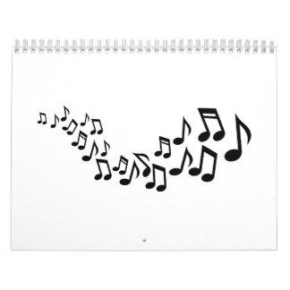Mixed notes singer calendar