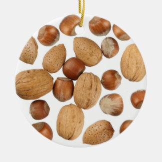 Mixed Nuts Ceramic Ornament